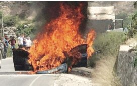 Car blazes!
