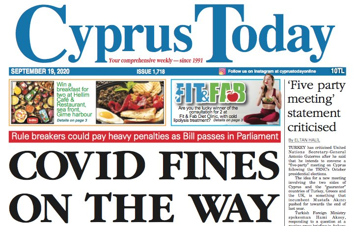 Cyprus Today 19 September 2020