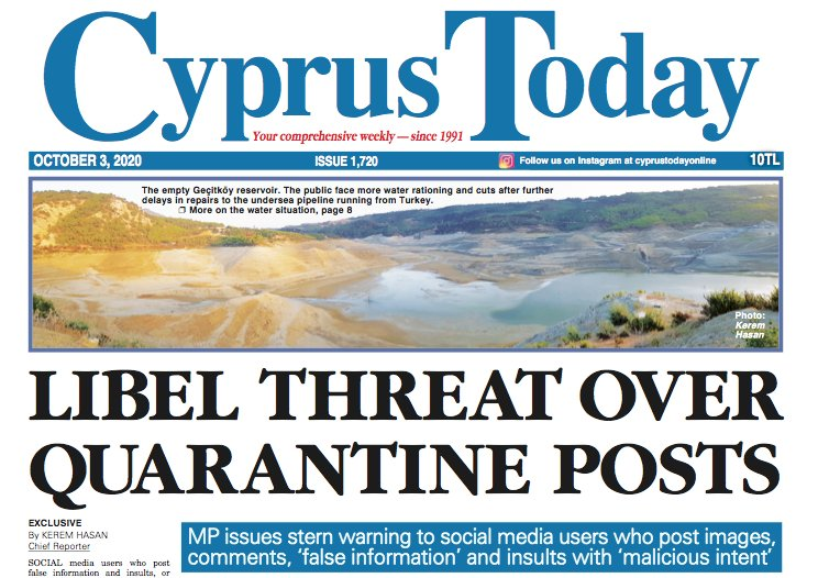 Cyprus Today 3 October 2020