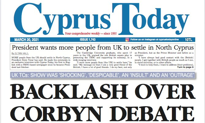Cyprus Today 20 March 2021